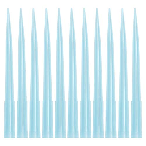 1mL Pipette Tips, Four E's Scientific Universal Blue 1000ul Pipette Tips, Polypropylene (PP), 500pcs/bag, Non-pyrogenic, DNAse/RNAse Free, Autoclavable, Widely Compatible