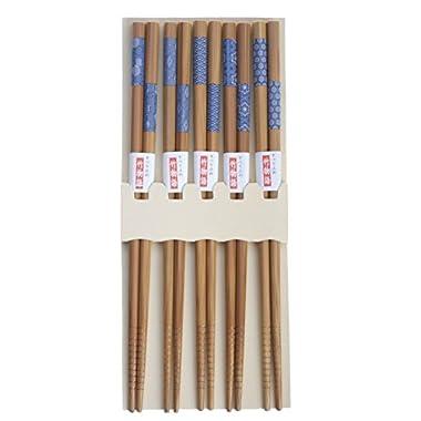 JapanBargain Brand Japanese Chopsticks Gift Sets in Print, Blue
