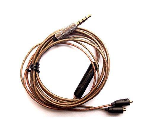 micity 3Ersatz Audio-Verlängerungskabel Upgrade-Kabel für Shure SE535SE215SE315SE425SE846UE900Sennheiser IE8IE80IE8i TF10TF15SF3SF55EB Exclusive 5Pro Kopfhörer Headsets Kopfhörer