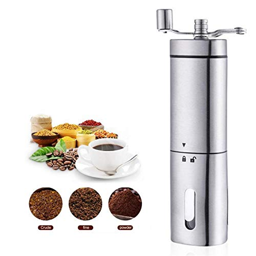 Bureau Moulin à café manuel Triangle main machine à café en acier inoxydable ménage meuleuse à main Moulin à café moulin manuel Graines de noix
