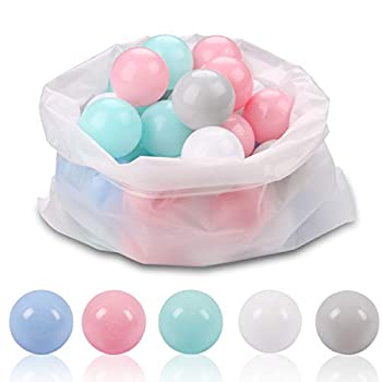 LANGXUN Ball Pit Balls for Kids - Plastic Toy Balls for Kids - Ideal Baby or Toddler Ball Pit Ball Pit Play Tent Baby Pool Water Toys  Kiddie Pool Party Decoration Photo Booth Props 50 Balls