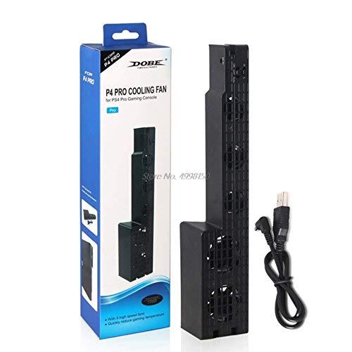 YANGSANJIN Ventilador de refrigeración USB Super Turbo Externo de 5 Ventiladores para Consola de Juegos Playstation4 Ps4 Pro, Negro