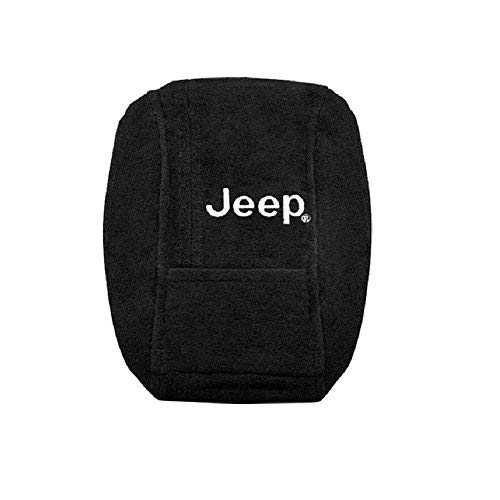 Seat Armour KAJGCB11-14 Officially Licensed Custom Fit Center Console Cover with Jeep Embroidered Logo for Select Jeep Grand Cherokee Models(2011-2017) - (Black)