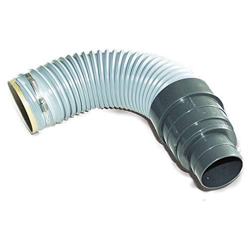 Green-Fast Dunstrohranschluss 50cm flexibel mit Schlauchklemme DIN 112 125 (DN-Reduzierstück 125-70/125)