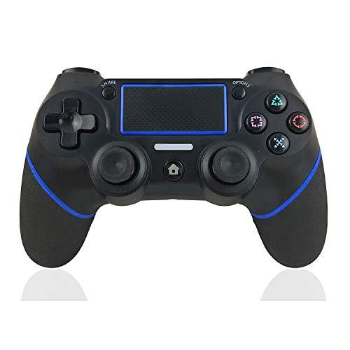 Mando PS4 Mando Inalámbrico para PS4/Pro/Slim/ PC Gamepad Wireless Bluetooth Controlador Joystick con Vibración Doble Remoto Compatible para PS4 con panel táctil y conector de audio