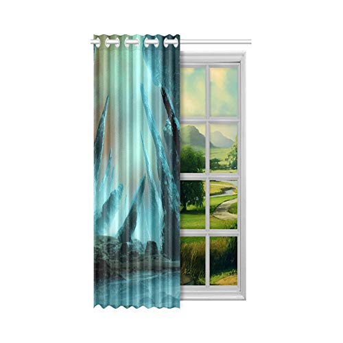 Generies Fenster Volant Vorhänge Little Holland Lop Kaninchen Wohnzimmer Fenster Vorhänge 52x63 Zoll (132x160cm) 1 Panel Blackout Tülle Vorhang für Schlafzimmer Wohnzimmer