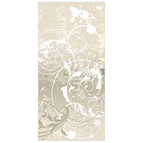 Flächenvorhang Perlen-Ornament Design 250x120cm | Hängende Raumteiler Raumteiler Raumteiler Vorhang Raumteiler Flächenvorhang Wandschmuck Dekor | Maße: 250x120cm inkl. transparentem Aufhänger