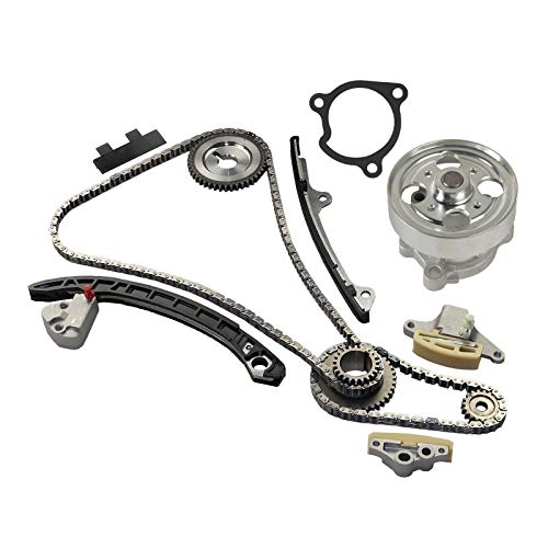 Timing Chain Kit 9-4212SA with Water Pump Compatible with 2007-2009 Nissan Altima 2.5L | 2008-2013 Nissan Rogue 2.5L | 2007-2012 Nissan Sentra 2.5L 2500CC L4 DOHC and More Engine QR25DE