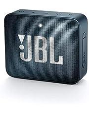 JBL GO2 draagbare Bluetooth-luidspreker met oplaadbare batterij, waterdicht, ingebouwde luidsprekertelefoon, donkerblauw