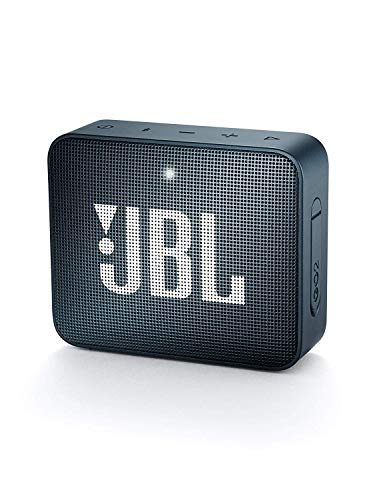 JBL GO 2 kleine Musikbox - Wasserfester, portabler Bluetooth-Lautsprecher mit Freisprechfunktion - Bis zu 5 Stunden Musikgenuss mit nur einer Akku-Ladung Dunkelblau