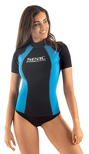 SEAC Warm Short, Maglia Protettiva Termica in Neoprene da 0,5 mm, Rash Guard per Snorkeling e Nuoto Anti UV Donna, Multicolore, XS