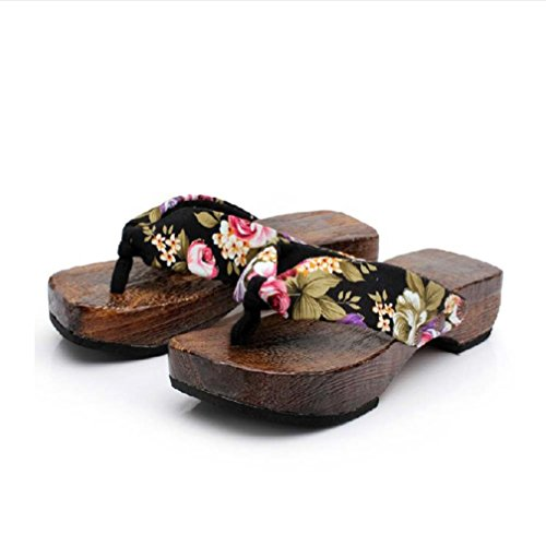 ZARLLE Sandalias Casuales Zapatos De Playa Sandalias Romanas Chanclas De Damas Plataforma De Verano Zapatos Mujer Zuecos De Madera Madera Chanclas Sandalias Zapatillas