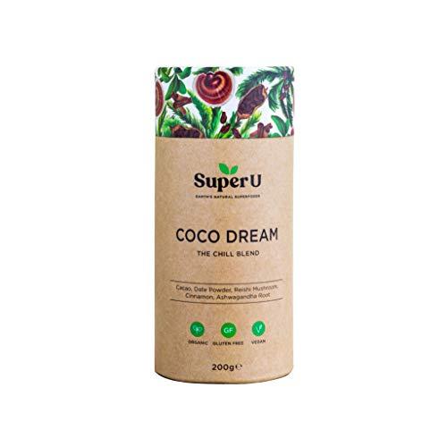 Super U Coco Dream (25 Portionen) - Kakao mit Reishi Pilz. Bio Rohkakao und Reishi Pilzextrakt für Entspannung und Schlaf. Gesunde heiße Schokolade aus Superfoods! Vegan.