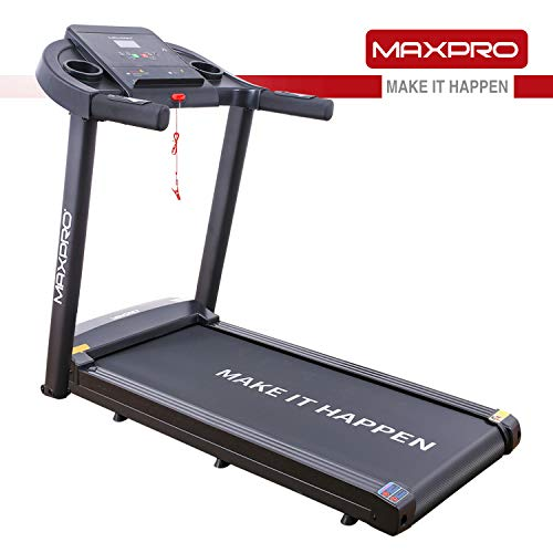 Welcare MAXPRO PTM 101 1.5HP (3 HP Peak) Motorized Easy Assembly Treadmill with LCD Display, I PAD Holder, MP3 Player (DIY Installation with Video Call Assistance)