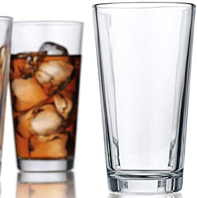Attractive Highball Glasses Clear Heavy Base Tall Beer Glasses [Set Of 10] Drinking Glasses for Water, Juice, Beer, Wine, and Cocktails 16 Ounces