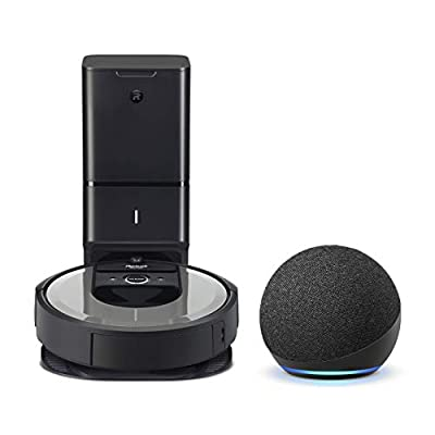 iRobot Roomba i6+ (6550) Robot Vacuum - Automatic Dirt Disposal, Wi-Fi, Works with Alexa, Clean & Schedule by Room with Echo Dot (4th Gen)