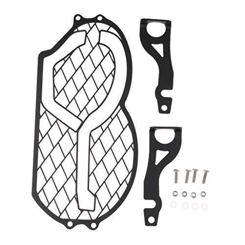 P Prettyia Moto Head Light Grill Guard Cover Protector Negro para R1200GS 05-12