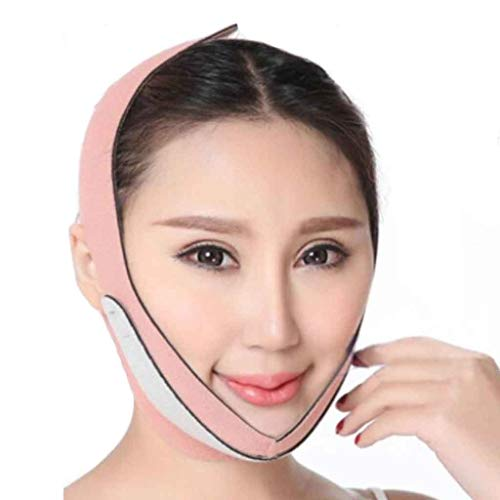 Sangle de levage du visage Slimming Face Mask - Facial Slim Band, Thin Chin Support Wrap, Cheek Lifting Belt, V Face Shaping Strap for Anti Aging Wrinkle, Reducing Double Chin