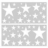 I-love-Wandtattoo Pegatina de Pared Set habitación Infantil Estrellas Blancas para Pegar Mural Pegatinas