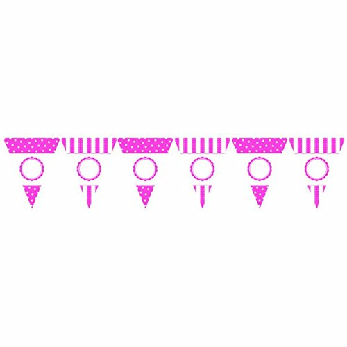 Amscan Bridal Shower Anniversary Wedding Girls Birthday Pink Personalize Banner Party Supply