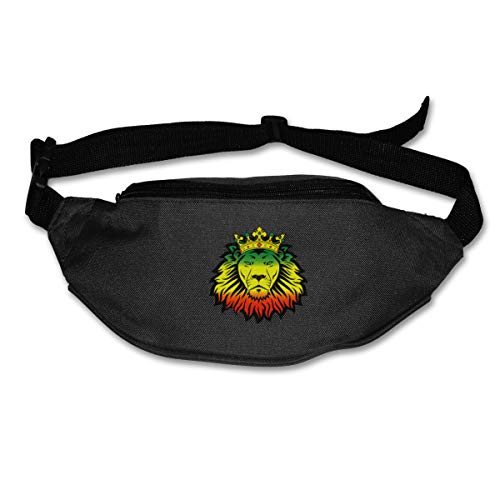 HKUTKUFGU Riñonera para mujeres y hombres como un león, reggae, rastafari, África, Jah, Jamaica, bolsa de viaje, riñonera para correr, ciclismo, senderismo, entrenamiento