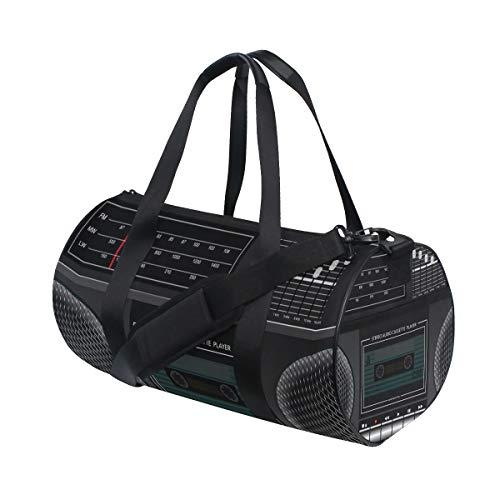 Ahomy Sports - Bolsa de deporte con diseño de cinta de casete de viaje, tamaño grande, para hombres y mujeres