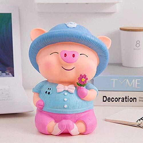 EDCV Spaarpot 24cm cute cartoon spaarvarken munt spaarvarken plastic stillevens besparingen, 2