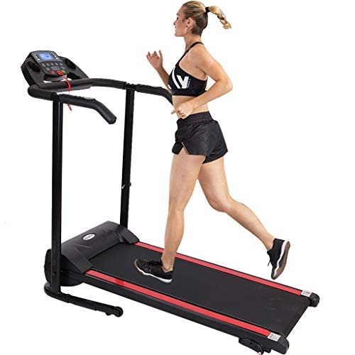 BONJIU Training Exercise 1100W Folding Treadmill with Device Holder, Shock Absorption and Incline for Home Gym Use Full Body Fitness Home Gym Exercise Sport(Ship from US)
