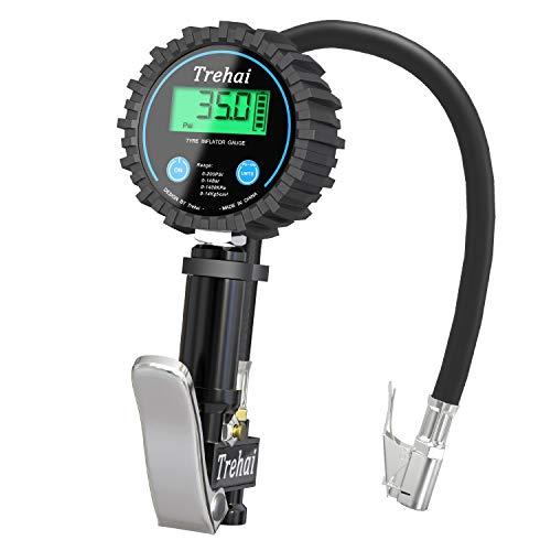 Trehai Digital Tyre Inflator with Pressure Gauge 200 PSI Accurate Tyre...