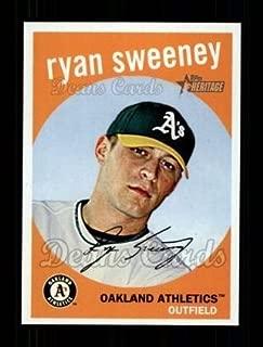 2008 Topps Heritage # 512 Ryan Sweeney Oakland Athletics (Baseball Card) Dean's Cards 8 - NM/MT Athletics