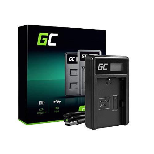 Green Cell® LC-E6 LC-E6E LC-E6N Cargador para Canon LP-E6 Batería y EOS 5D Mark II, EOS 5D Mark III, EOS 60D, EOS 60DA, EOS 6D, EOS 7D Cámaras (5W 8.4V 0.6A Negro)
