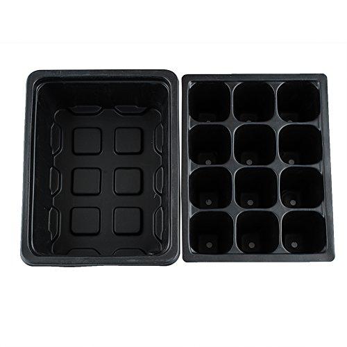 Kicode attachmenttou Trou de 12 cellules Durable Boîte de Culture de semences végétales Ensemble de clonage Outils de Jardin