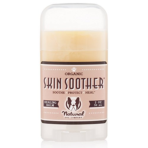 Natural Dog Company - Skin Soother - Organic, All-Natural Healing Balm - Treats Hot Spots, Bacterial Folliculitis, Dermatitis, Alopecia, Mange, Dry Flaky Skin - 2 Oz Stick