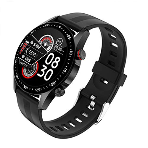 FZXL E12 Smart Watch Men's Bluetooth Call Pantalla Táctil Completa Impermeable Smartwatch para Android iOS Sports Fitness Tracker,B