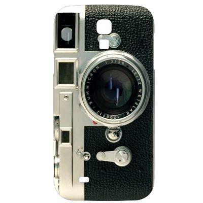 Hard Case / Cover caméra Samsung Galaxy S4 / i9500 avec l'objectif étui de protection couverture arrière de Shell Vintage