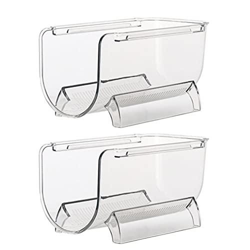 jojofuny 2 Unidades Refrigerador Soporte para Botellas de Vino Estantes Apilables Soporte para Botellas de Agua Organizador de Almacenamiento de Vino para Gabinete de Nevera Encimera de