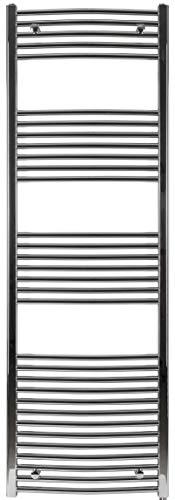 Badheizkörper, Heizkörper, BH416 chrom gebogen 1775h x 600b, hochwertig, Handtuchtrockner, Handtuchheizkörper