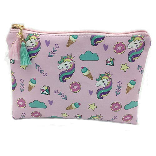 HYLH Unicorn Cosmetic Bags Portable Makeup Bag Case Travel Pouch Cosmetic and Toiletries Organizer Bag