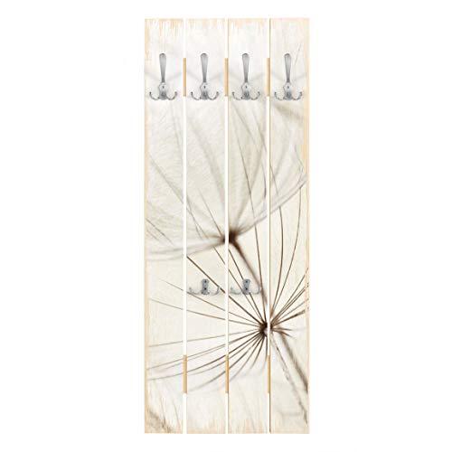 Perchero de Madera Gentle Grasses, 100x40 cm incl. Ganchos Cromado