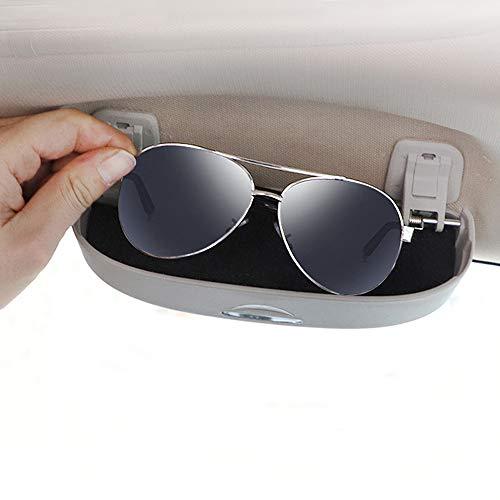 Auto Sonnenbrille Box Sonne Brille Halter Brillenetui Brillenhalter Zubehör für A1 A3 A4 B9 A5 A6 A7 A8 Q3 Q7 Q5 2019 (Grau)