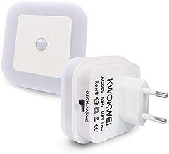 KWOKWEI Led-nachtlampje met bewegingsmelder en helderheidssensor, led-nachtlampjes met geïntegreerde schemeringssensor, in...