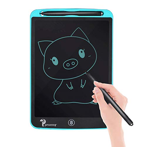 Proffisy LCD Writing Pad Tablet 8.5 Inch Electronic Writing Scribble Board Magnetic with 2 Magnet for Kids Adults at Home School Office (Blue)