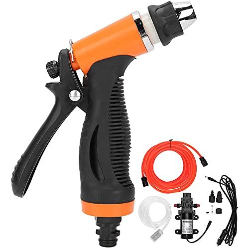 Kit di lavaggio elettrico portatile ad alta pressione per auto, 12 V, pompa elettrica per lavaggio a getto, tubo flessibile per auto, giardino, animali domestici, finestre, condizionatore d'aria
