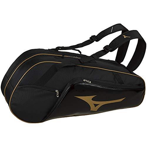 MIZUNO(ミズノ) 硬式・ソフトテニス/バドミントン ラケットバッグ(6本入れ) 63JD9007 95:ブラック×ゴールド