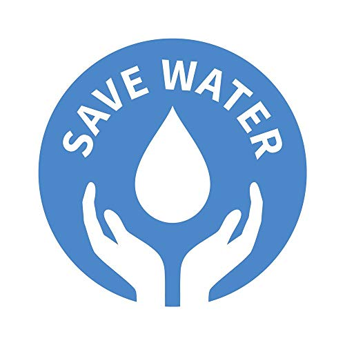 5 Ace White Save Water Sticker Poster|Save Environment|NO Plastic|Save Earth|Size:12x18 inch|Multicolor