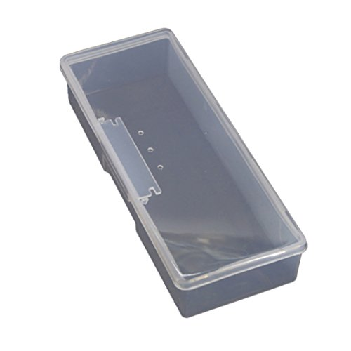 Plastique Transparent Boîte de Rangement bijoux strass Organiseur Conteneur Coque ongles Art Supplies support blanc blanc M