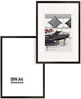 Johgee Cadre Photo A4 Moderne, Lot Cadre Photo Mural Collage de Photos Galerie d'images, Noir