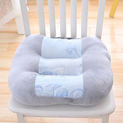 SXFYWYM kudde bilstol ökar bilprovning sittkudde ultralätt bärbar halkfri tjock stol kudde, grå, 45 x 45 cm