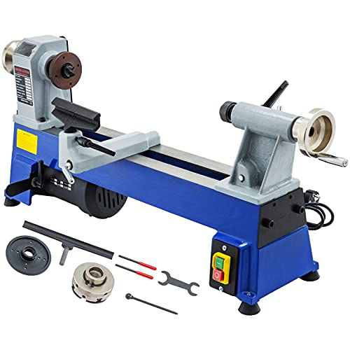 VEVOR Benchtop Wood Lathe 10 in x 18 in Variable Speed 500-3200 RPM Woodturning Lathe Machine, Woodworking DIY Lathe with a 1/3hp Motor and an MT1 Spindle for Outdoor and Home Hobby Work Engraving