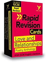 York Notes for AQA GCSE (9-1) Rapid Revision Cards: Love and Relationships AQA Poetry Anthology